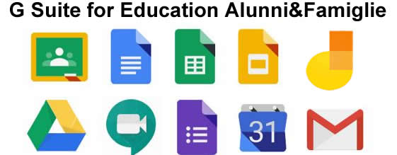 G suite for education StudentiFamiglie